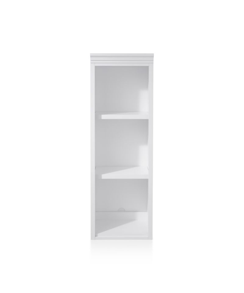 "Harrison 18"" White Open Bookcase Hutch"