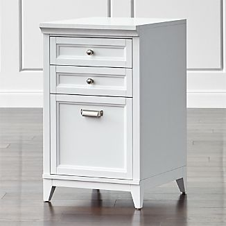 "Harrison 18"" White 3-Drawer Filing Cabinet"