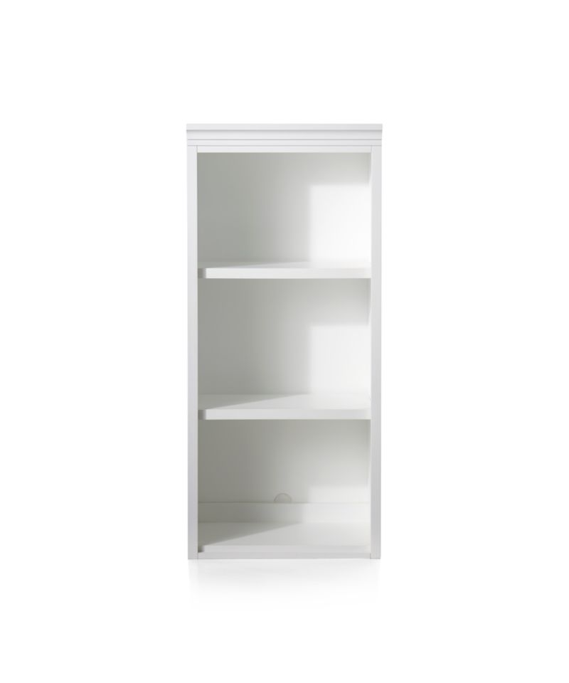 "Harrison 24"" White Open Bookcase Hutch"
