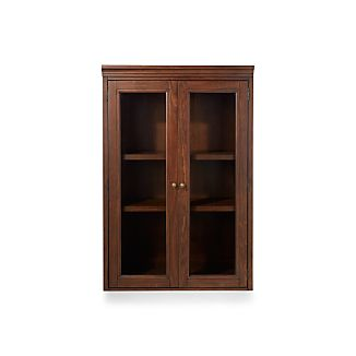 "Harrison 36"" Cherry Hutch with Glass Doors"