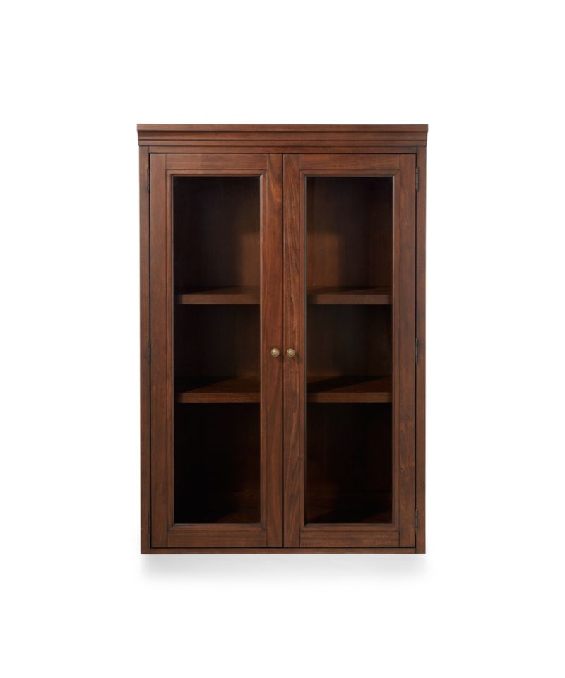 """Harrison 36"""" Cherry Hutch with Glass Doors"""