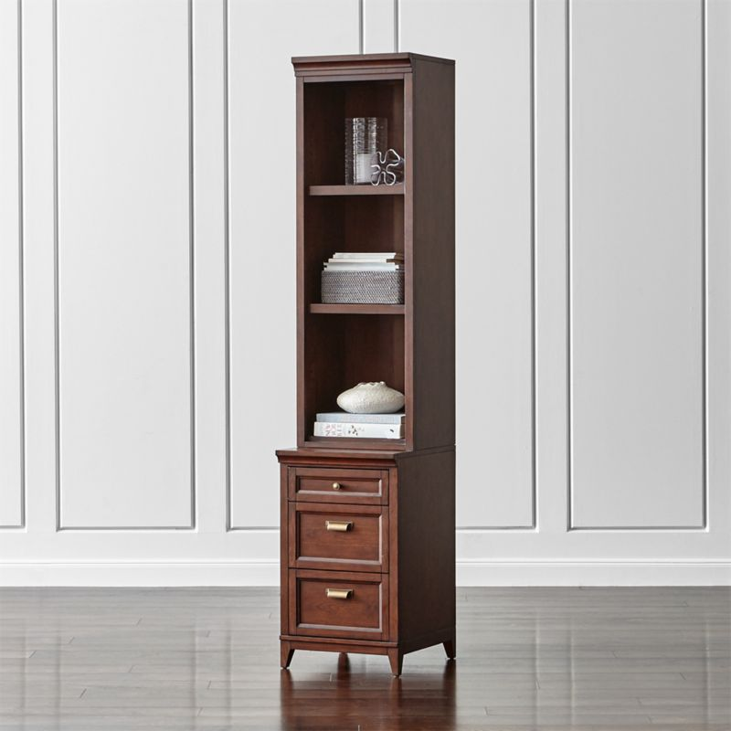 """Harrison 18"""" Cherry Bookcase with 3-Drawer Cabinet Base"""