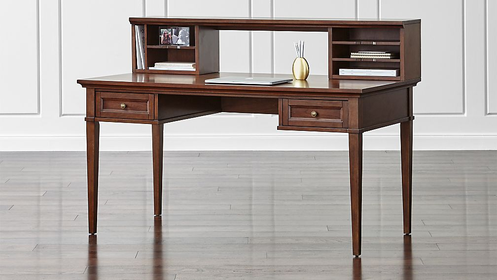 "Harrison Cognac 60"" Desk with Hutch"
