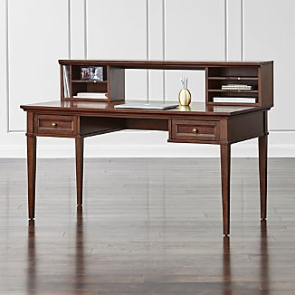 "Harrison Cherry 60"" Writing Desk with Hutch"