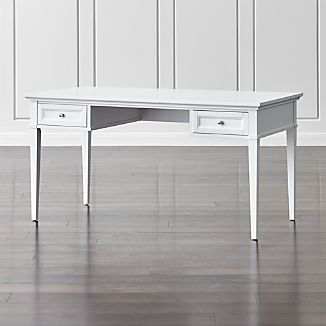 "Harrison 60"" White Desk with Drawers"