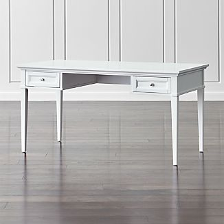 "Harrison 60"" White Writing Desk with Drawers"