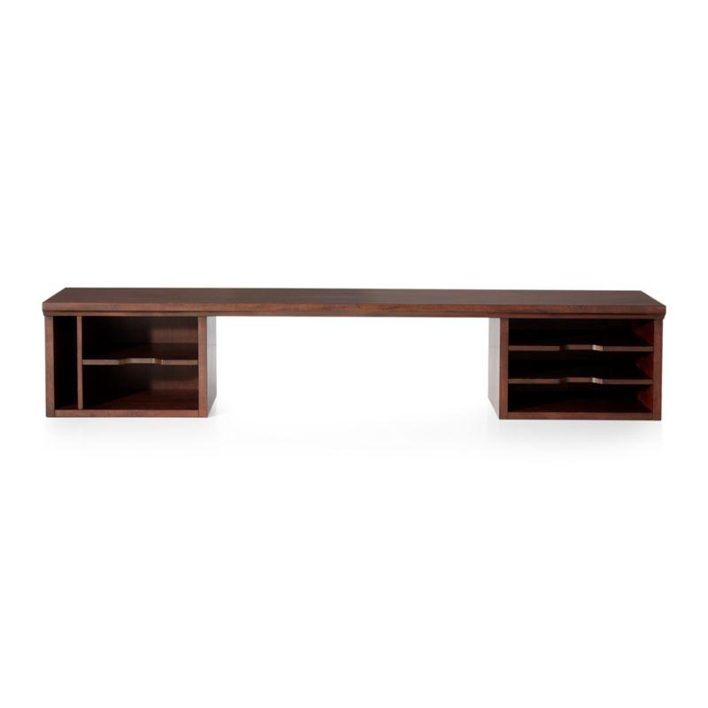 Harrison 60 Quot Cognac Desk Hutch Crate And Barrel