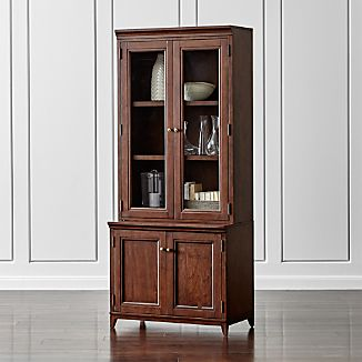 "Harrison 2-pc Cherry 36"" Bookcase with Glass Doors"