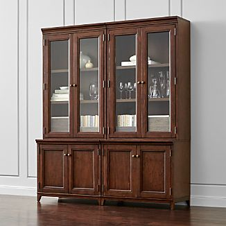 Harrison 4-pc Cherry Modular Wall Unit/Glass Doors 72""