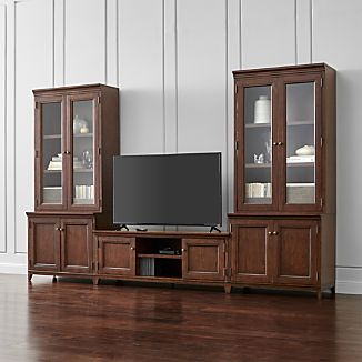 Harrison 5-pc Cognac Entertainment Center/Glass Doors
