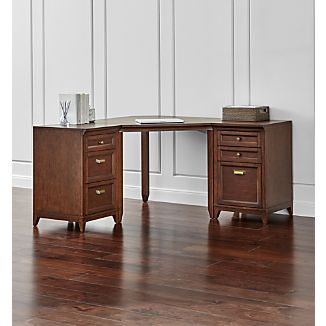 Harrison 3-pc Cognac Corner Desk Office Suite