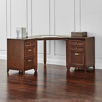 Harrison 3-pc Cherry Corner Desk Office Suite