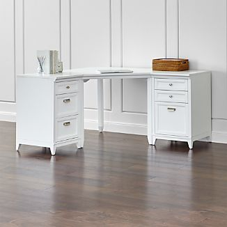 Harrison 3-Piece White Corner Desk Office Suite