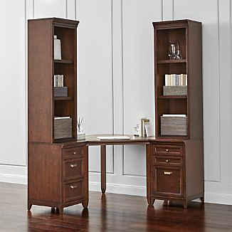 Harrison 5-pc Cognac Corner Desk Office Suite