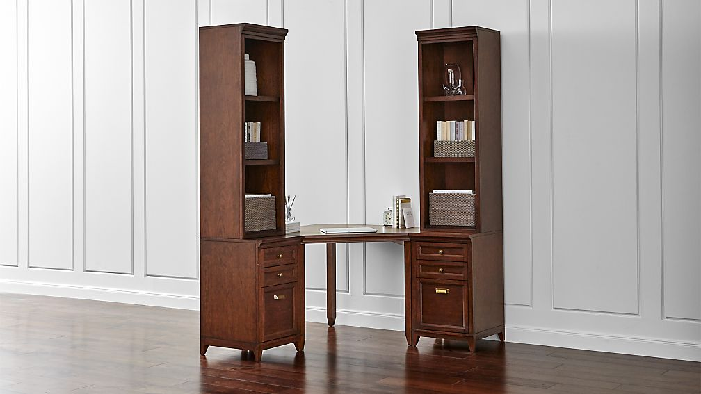 Harrison 5-pc Cognac Corner Desk Filing Suite
