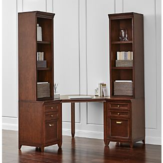 Harrison 5-pc Cherry Corner Desk Filing Suite