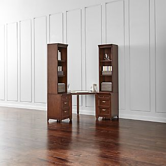 Harrison 5-pc Cherry Corner Desk Cabinet Suite