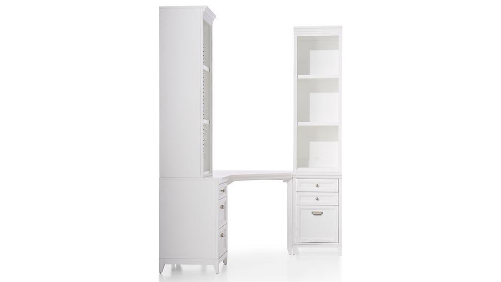 Harrison 5-Piece White Corner Desk Office Suite