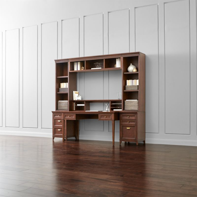 Harrison 7-pc Cherry Modular Home Office