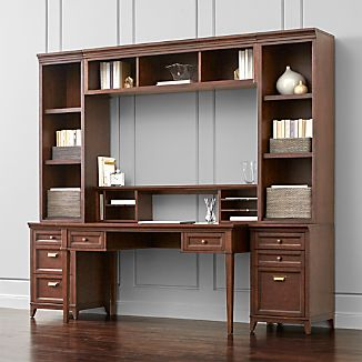 Harrison 7-pc Cognac Modular Home Office