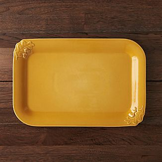 Harvest Yellow Serving Platter