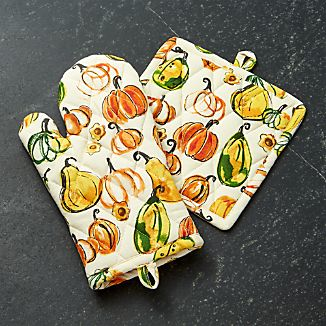 Harvest Oven Mitt and Pot Holder