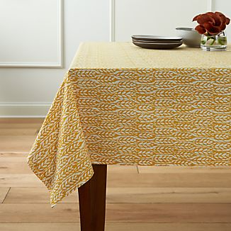 "Harvest Yellow 60""x90"" Tablecloth"