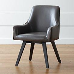 Harvey Smoke Leather Chair