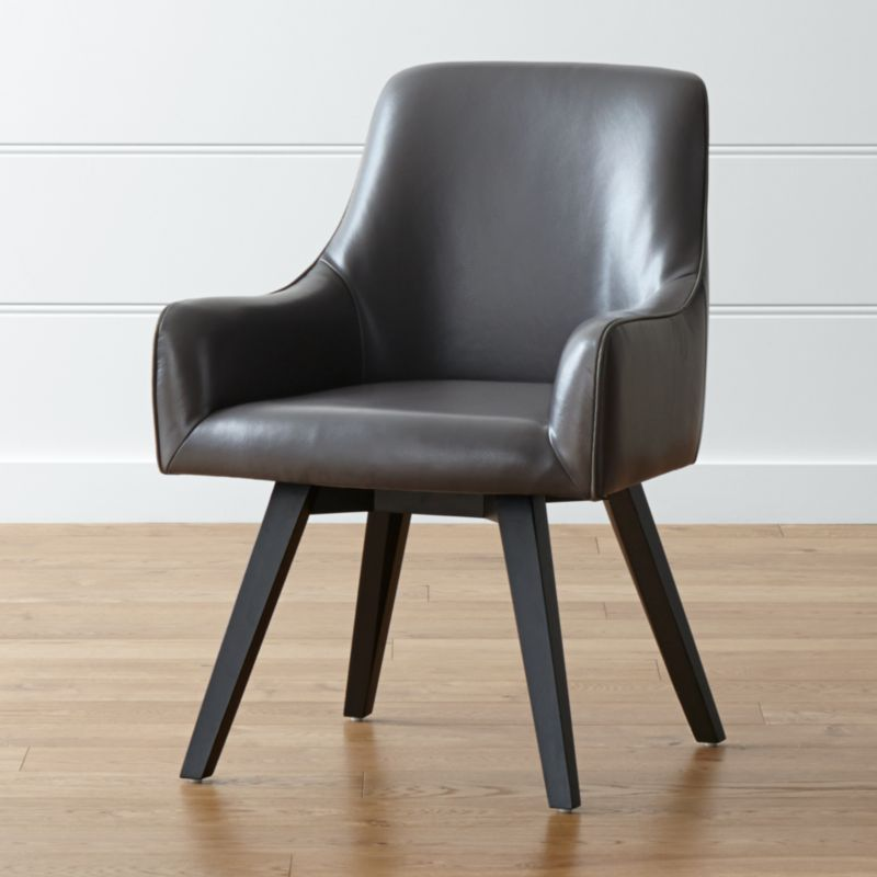 Harvey Smoke Leather Chair