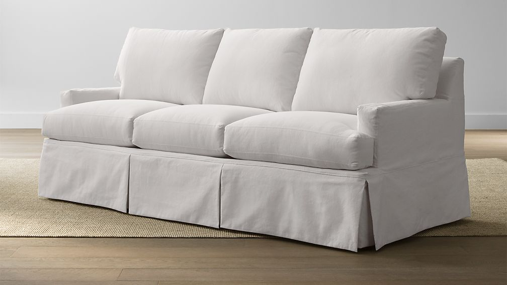 Hathaway Slipcovered Queen Sleeper Sofa Petry Snow