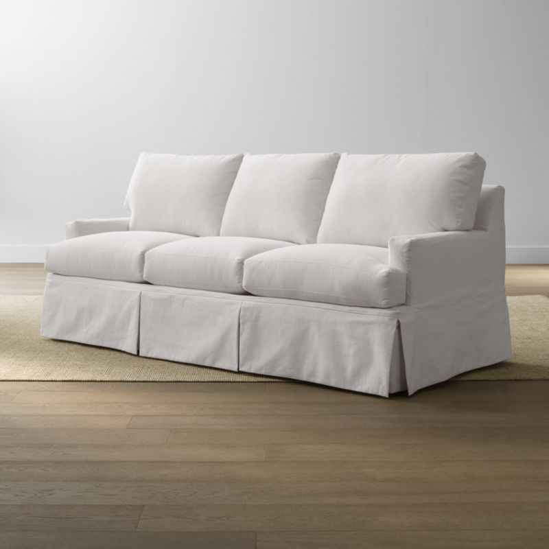 A back-up for your Hathaway queen sleeper sofa slipcover assures you can keep it looking fresh on short notice. Family-friendly, cotton-blend slipcovers are crisply tailored with inverted corner kick pleats for a skirted effect. Slipcovers are finished with topstitch detailing and remove easily to go right in the washing machine.<br /><br /><NEWTAG/><ul><li>Machine-washable</li><li>Topstitching</li><li>Made in North Carolina, USA of domestic and imported materials</li></ul>