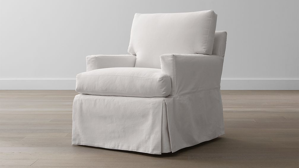 Hathaway Slipcovered Chair Petry Snow Crate And Barrel