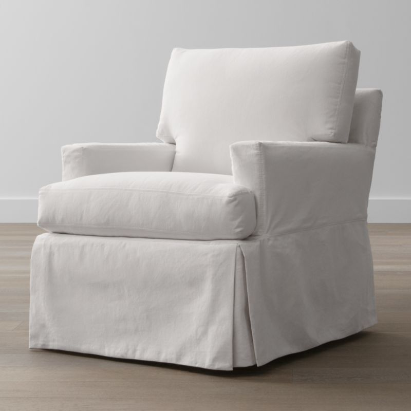 A back-up for your Hathaway chair slipcover assures you can keep it looking fresh on short notice. Family-friendly, cotton-blend slipcovers are crisply tailored with inverted corner kick pleats for a skirted effect. Slipcovers are finished with topstitch detailing and remove easily to go right in the washing machine.<br /><br /><NEWTAG/><ul><li>Machine-washable</li><li>Topstitching</li><li>Material origin: see swatch</li><li>Made in North Carolina, USA of domestic and imported materials</li></ul>
