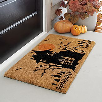 Haunted House Halloween Coir Doormat