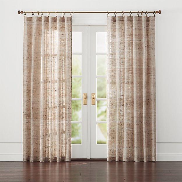 hayden silk curtains crate and barrel. Black Bedroom Furniture Sets. Home Design Ideas