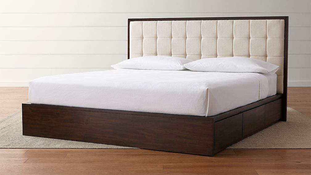 Hayden King Storage Bed : Crate and Barrel