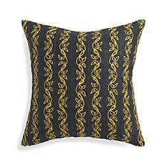 "Hazel Yellow 20"" Pillow with Feather-Down Insert"