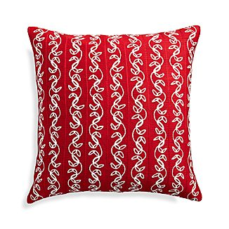 "Hazel Red 20"" Holiday Pillow"