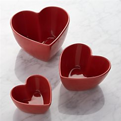 Set of 3 Heart Bowls
