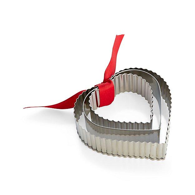 3-Piece Heart Shaped Cookie Cutter Set