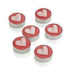 Heart Tea Lights Set of 6