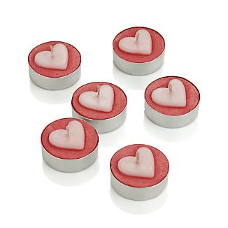 Heart Tea Lights Set of 6