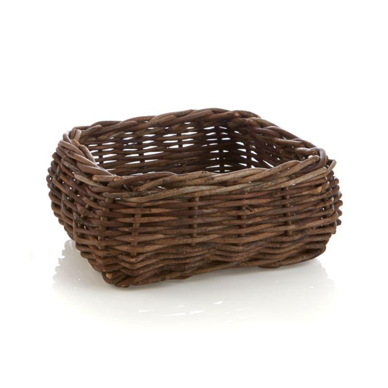 Woody bagobago vines weave rustic refinement for tabletop, kitchen island or hearth. Handwoven square basket present foods or decorative objects.<br /><br /><NEWTAG/><ul><li>100% bagobago vine</li><li>Handwoven</li><li>Non-toxic clear lacquer finish</li><li>Food safe</li><li>Do not soak in water</li><li>Clean with a dry cloth</li><li>Made in The Philippines</li></ul>