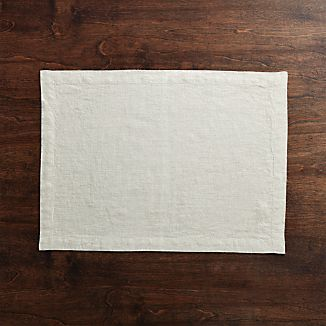 Helena Dark Natural Linen Placemat