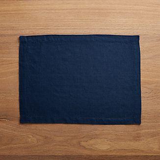 Helena Indigo Blue Linen Placemat