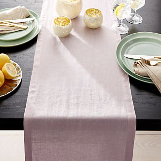 "Helena Lilac Purple Linen 90"" Table Runner"