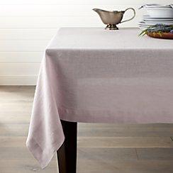"Helena Lilac 60""x90"" Linen Tablecloth"