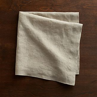 Helena Dark Natural Linen Dinner Napkin