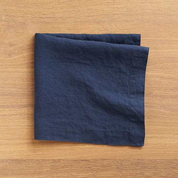 Set of 4 Helena Indigo Linen Napkins