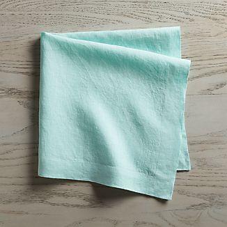 Helena Sky Blue Linen Napkin